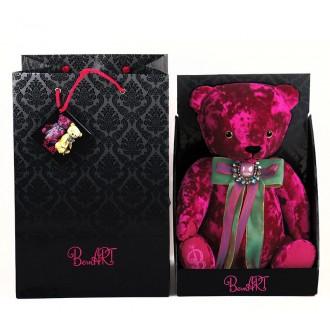 Медведь BernArt пурпурный (30 cм)