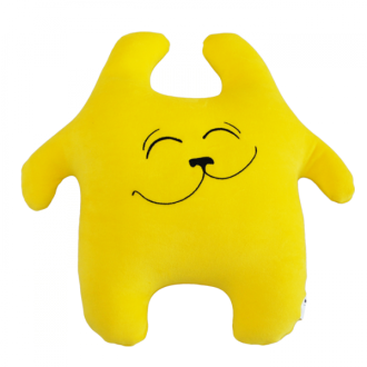 Игрушка-антистресс Заяц Хрустик  желтый 40 см