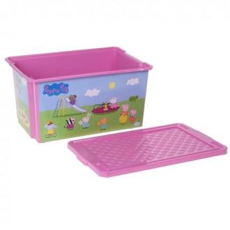 """Ящик для игрушек """"X-BOX. Свинка Пеппа"""", 57 л (под заказ)"""