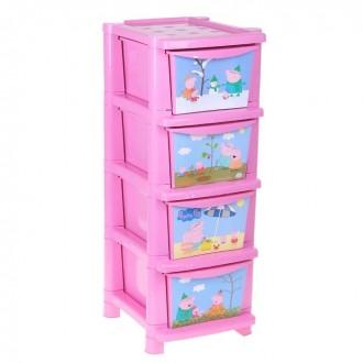 """Комод для игрушек """"Свинка Пеппа"""" (под заказ)"""