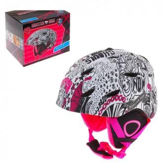Шлем зимний Monster High, размер М (54-58 см) под заказ