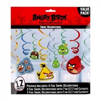 Спираль Angry Birds, 46-60 см, 12 штук (под заказ)