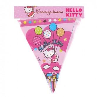"""Гирлянда-вымпел """"Hello Kitty"""", 360 см"""