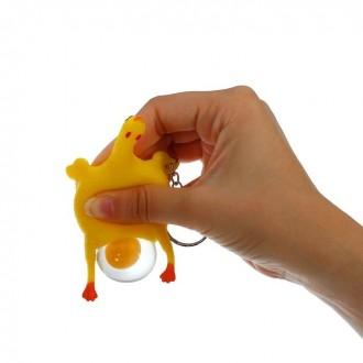 """Мялка """"Курица"""" на брелоке 3,5 см × 5 см × 9 см"""