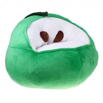 """Мягкая игрушка """"Кресло Яблоко"""", цвет зеленый (под заказ)"""