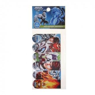 Закладки для книг Max Steel магнитно-пластиковые, 6шт