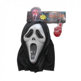 Карнавал маска пластик крик с жидкостью 40*30 (под заказ)