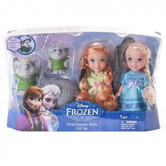 Игровой набор Принцессы Дисней Холодное Сердце 2 куклы 15 см и тролли (под заказ)