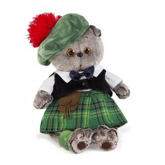 Кот Басик в шотландском костюме (25 см)