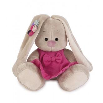Зайка Ми в розовом сарафанчике с ромашкой на ушке (15 см)