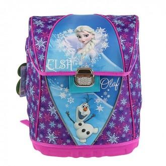 Ранец на замке Disney Frozen 36*31*21  эргономичная спинка (под заказ)