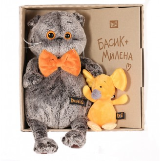 Басик с мышкой Миленой (25 см)