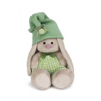 """Мягкая игрушка """"Зайка Ми - гномик в зелёном"""" 18 см"""