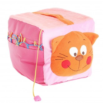 """Мягкая игрушка """"Пуфик. Кот""""35 см × 40 см (под заказ)"""
