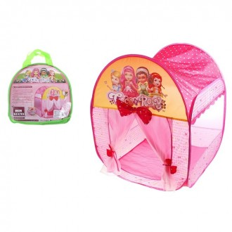 """Игровая палатка """"Домик принцессы"""" с занавесками и бантами (под заказ) 75 × 75 × 91 см"""
