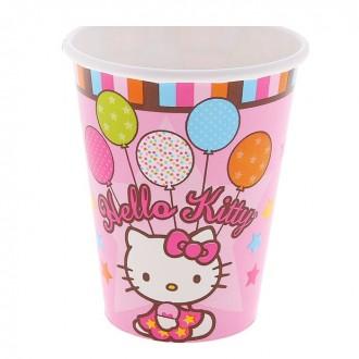 Набор стаканов Hello Kitty, 8 шт., 260 мл (под заказ)