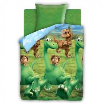 "Постельное бельё ""Хороший Динозавр"" Динозавр 1,5 сп., размер 143х215 см, 150х214 см, 70х70 см - 1 шт. (под заказ)"