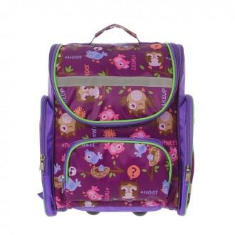"""Рюкзак школьный на молнии """"Совы"""", 1 отдел, 3 наружных кармана 35 см × 20 см × 38 см (под заказ)"""