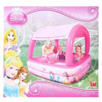 """Бассейн надувной с тентом от солнца """"Princess""""147 × 147 × 122 см (под заказ)"""