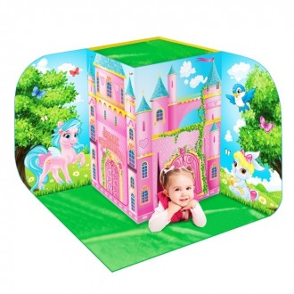 """Игровая палатка 3D """"Дворец принцессы"""" (под заказ)120 × 120 × 110 см"""