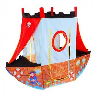 """Игровая палатка """"Пиратский корабль"""" (под заказ)170 × 70 × 135 см"""