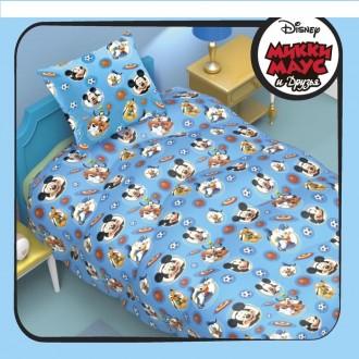"""Одеяло 1,5 сп """"Микки Маус и его друзья"""" 140*205 см файбер, поплин (под заказ)"""
