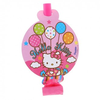 """Язык-гудок """"Hello Kitty"""", набор 8 штук (под заказ)"""