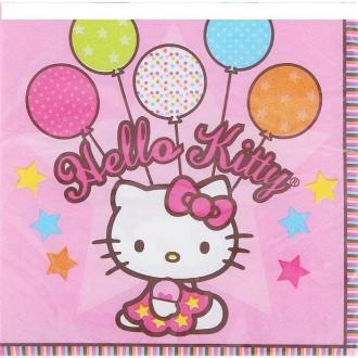Набор салфеток Hello Kitty, 16 штук, 33 см (под заказ)