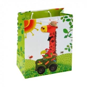 """Пакет подарочный """"Жираф Марти"""", 20.3 х 24 х 11.5 см Marzipan"""