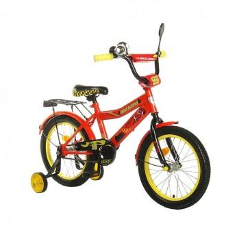 """Велосипед двухколесный 14"""" GRAFFITI """"ТАЧКИ"""", цвет: красный (под заказ)"""