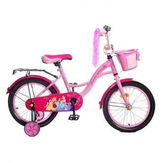 """Велосипед двухколесный 14"""" GRAFFITI """"ПРИНЦЕССЫ"""", цвет: розовый (под заказ)"""