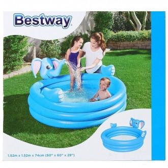 Игровой бассейн Слон 152х152х74 см, 324 л,с брызгалкой, от 2-х лет (под заказ)