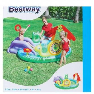 """Игровой надувной бассейн """"Зверушки"""" с брызгалкой и принадлежностями для игр, 144 л (под заказ)"""