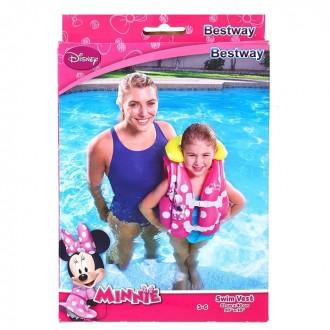 Жилет для плавания 51х46 см,от 3-6 лет Минни