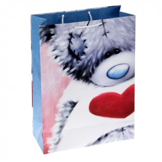 """Пакет подарочный """"Застенчивый мишка"""" 20,3 х 24 х 11,5 см, Me to you"""
