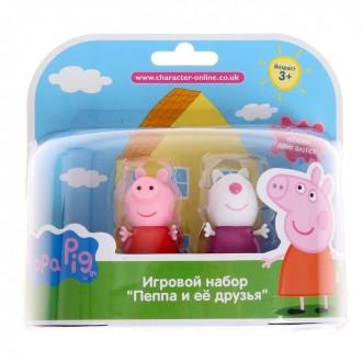 """Игровой набор """"Пеппа и Сьюзи"""" пластик"""