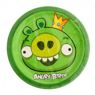 Набор тарелок Angry Birds, 17 см, 8 штук