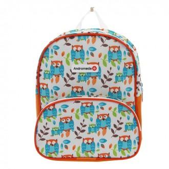 """Рюкзак на молнии """"Совы"""", 1 отдел, наружный карман, оранжевый (под заказ)"""