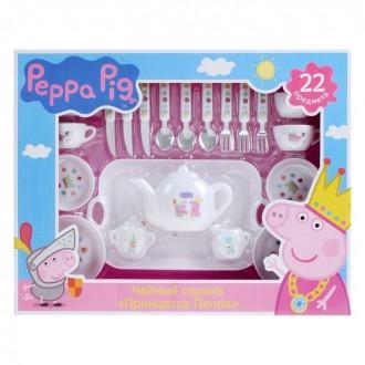 "Набор посуды ""Принцесса Пеппа""22 предмета (под заказ)"