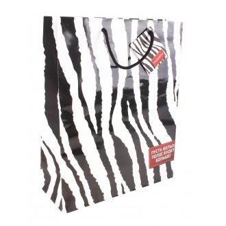 """Пакет подарочный """"Пусть белых полос будет больше""""10 × 18 × 22,5 см"""