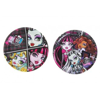 Набор тарелок Monster High, 18 см, 10 штук (под заказ)