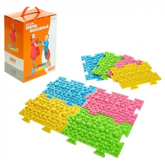 Детский массажный коврик из 8 модулей размерами 27,3 х 17,8 см (под заказ)