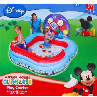"Игровой центр бассейн ""Mickey Mouse"" (4 кольца, 6 шаров) 157х157х91 см, от 3+ (под заказ)"