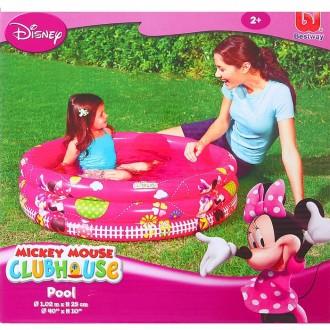 "Бассейн надувной ""Mickey Mouse"" 3 кольца, 102х25 см, от 2 лет (под заказ)"