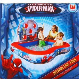 Игровой центр ТИР Spider-man (6 мячей) 155*155*99см, от 3+ (под заказ)