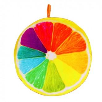 """Подушка-игрушка """"Разноцветный лимон"""" 37 × 37 × 7 см (под заказ)"""