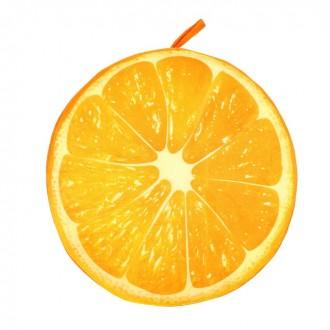 """Подушка-игрушка """"Апельсин""""37 × 37 × 7 см (под заказ)"""