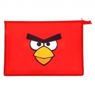 Папка для тетрадей А4 Angry Birds, на молнии (под заказ)