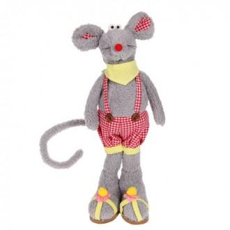 """Мягкая игрушка """"Мышка"""", клетчатые шортики (под заказ)"""