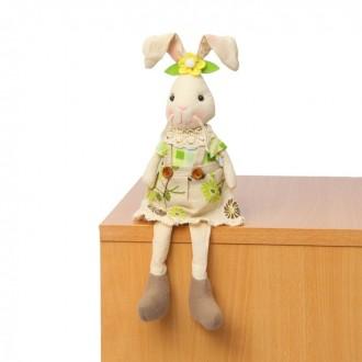 """Мягкая игрушка """"Зайка"""", юбка в цветочек (под заказ)"""